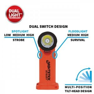 INTRANT® Intrinsically Safe Dual-Light™ Angle Light - 3 AA